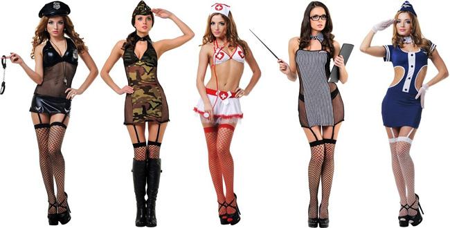 Игровые костюмы для истинных соблазнительниц.